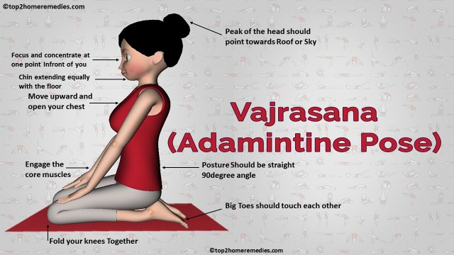 Vajrasana pose top2homeremedies.com