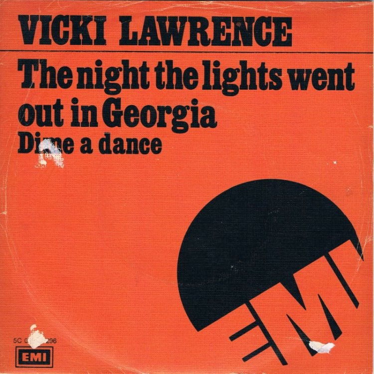 THE NIGHT THE LIGHTS WENT OUT IN GEORGIA - Vicki Lawrence record cover