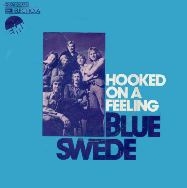 HOOKED ON A FEELING - Blue Swede record cover