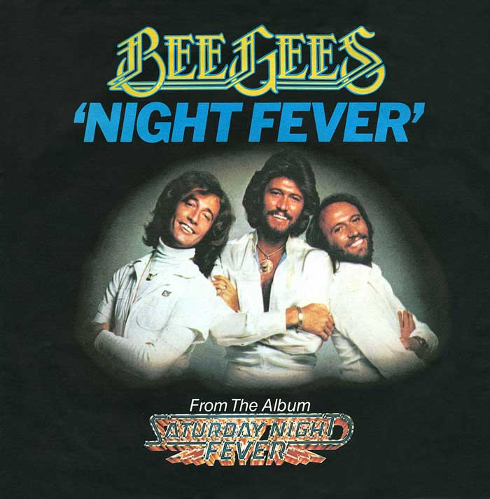 NIGHT FEVER - The Bee Gees record cover