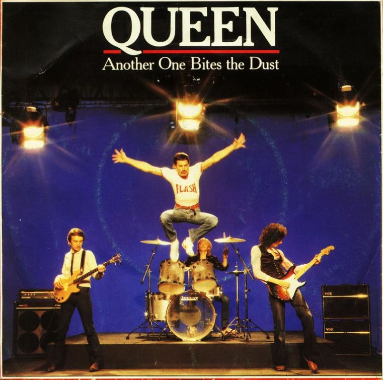 Queen Another One Bites The Dust record cover