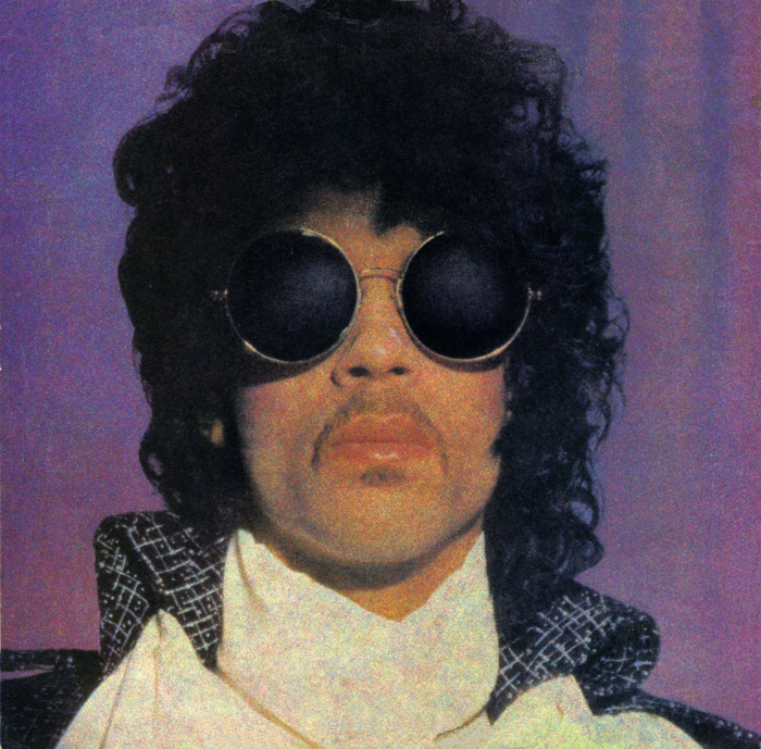 Image of Prince with sunglasses from the 80s