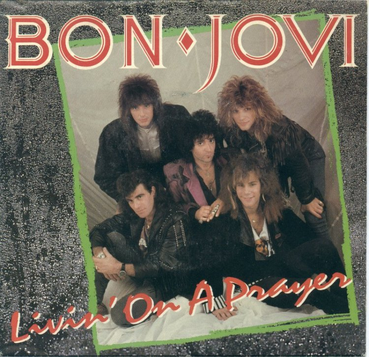 Bon Jovi Living on a Prayer record cover
