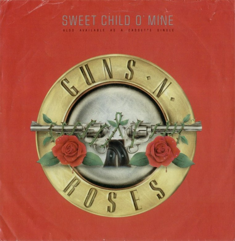 Guns and Roses Sweet Child of Mine record cover