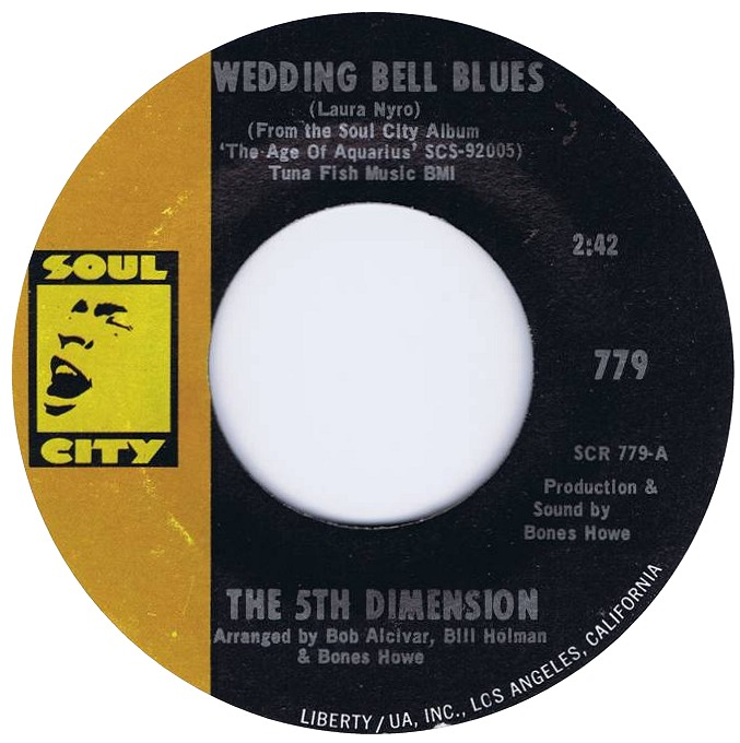 The 5th Dimension - Wedding Bell Blues 7-inch label