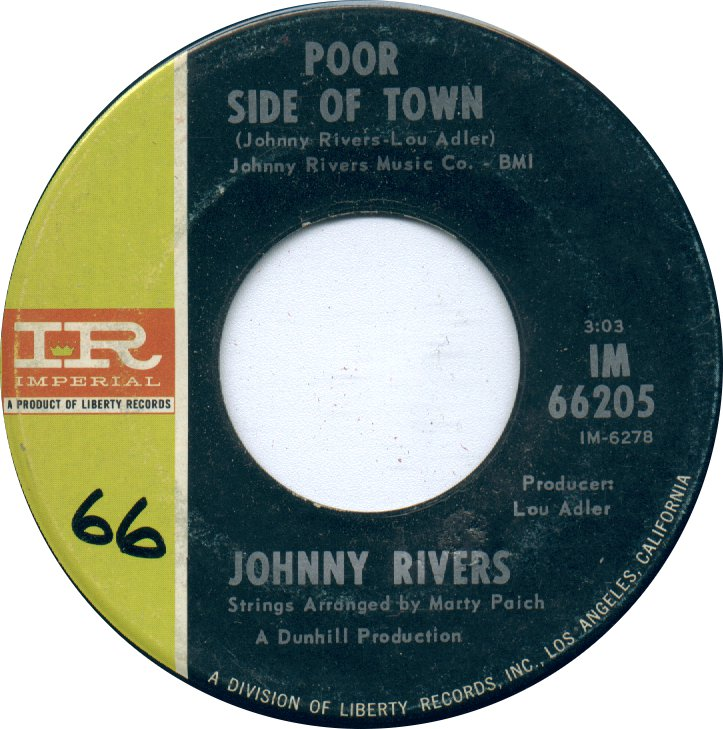 Johnny Rivers - Poor Side of Town 7-inch label
