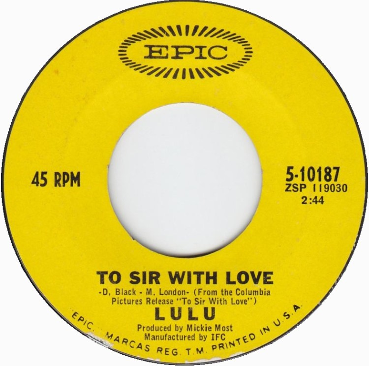 Lulu - To Sir With Love 7-inch label
