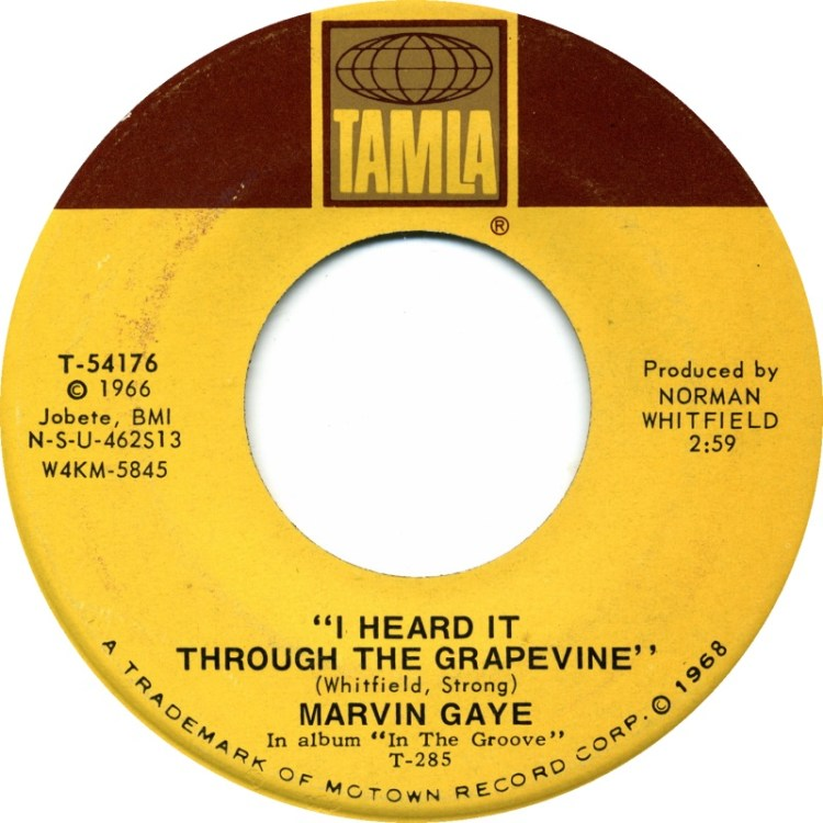 Marvin Gaye - I Heard It Through The Grapevine 7-inch label
