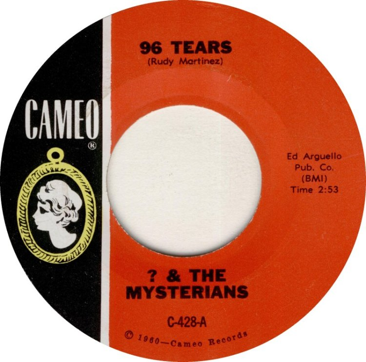 ? (Question Mark) and the Mysterians - 96 Tears 7-inch label