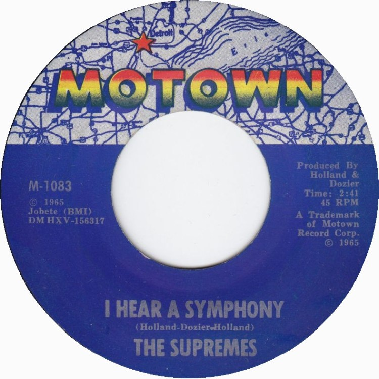 The Supremes - I Hear a Symphony 7-inch label