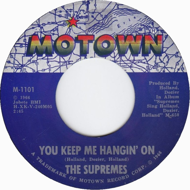 The Supremes - You Keep Me Hangin' On 7-inch record cover