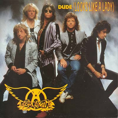 Aerosmith Dude record cover 1987