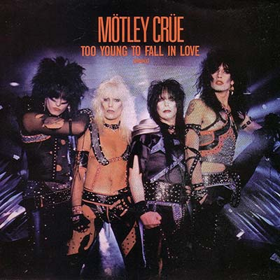Motley Crue Too Young To Fall in Love record cover