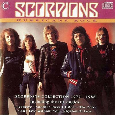 Scorpions Hurricane Rock record cover