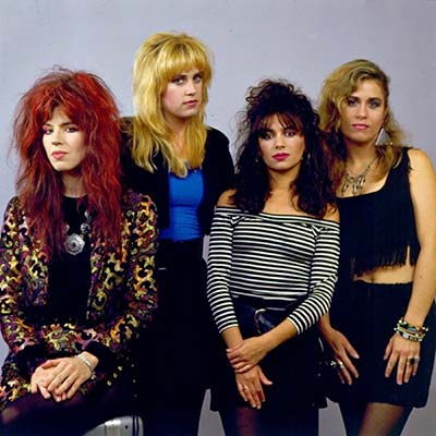 80's band The Bangles posing for a promo image circa 1980's