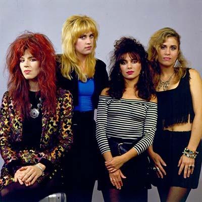 80's band The Bangles posing for a promo image circa 1980's
