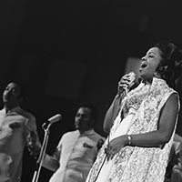 Gladys Knight and the Pips at Grand Gala du Disque Populaire in Congrescentrum (the Netherlands). Date: 7 March 1969