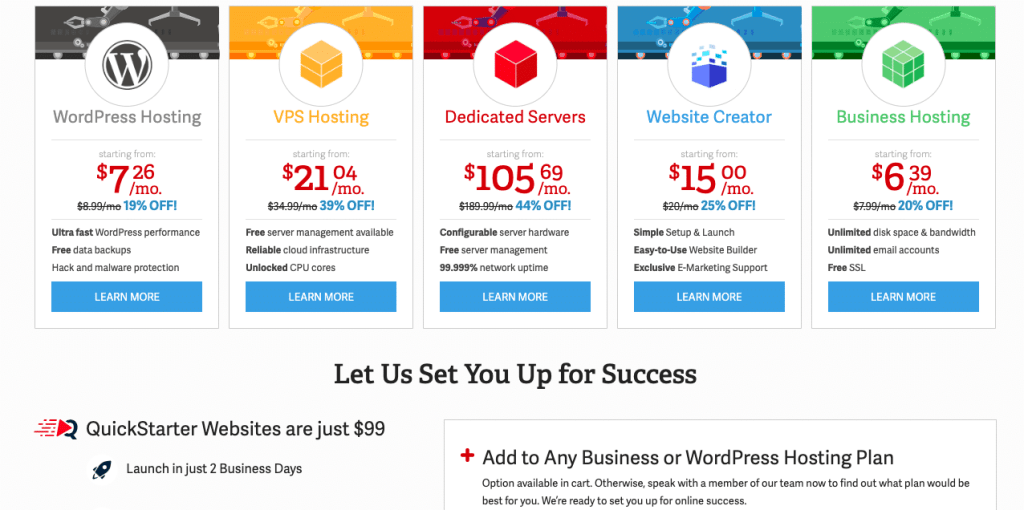 Best Hosting Services - Inmotion Hosting Pricing Plans