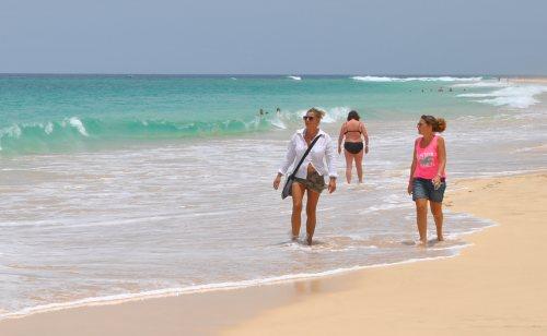 Kapverdský ostrov Sal, pláž