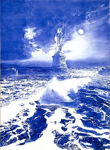 #2 Mark Tansey Blue Masterpiece!