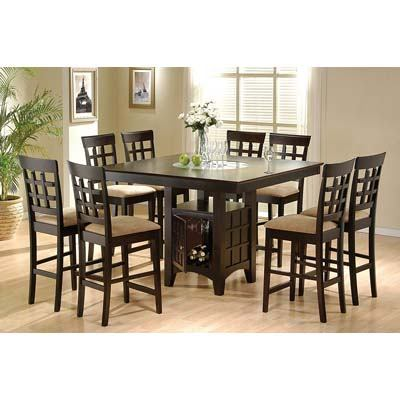 tall kitchen table and chairs makeup sydney top 10 best sets in 2019 top6pro coaster home furnishings 9 piece counter height storage dining set