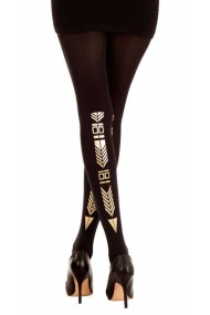 ethnic-journey-print-patterned-tattoo-tights-black-gold-zohara-F206-BGO-533x800
