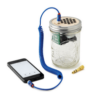 gifts-for-men-mason-jar-iphone-amplifier