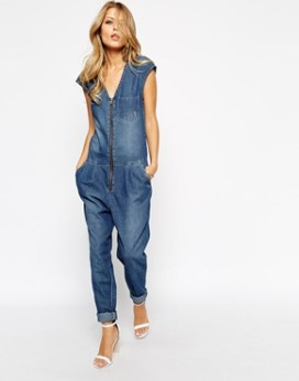 denim jumpsuit asos