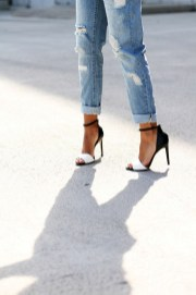 distresses denim plus heels