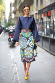 mix pattern skirt