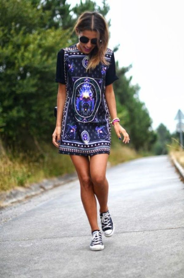 graphic dress with converse