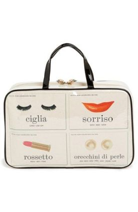 kate spade italian flashcards manueal cosmetics case