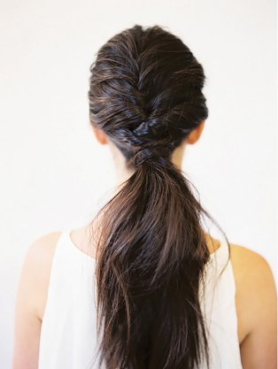 layered ponytail