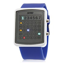 unisex creative display colorful led rubber band wrist watch