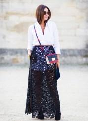 wear a sheer skirt