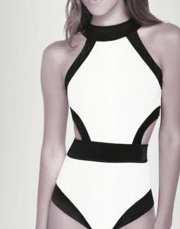 black and white OYE swimwear named Holly