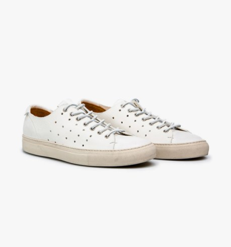 buttero perforated calfskin tanino