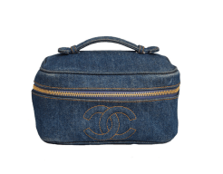 chanel denim vanity case bag