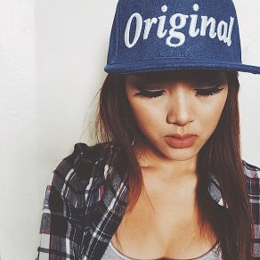 genuine by anthony all denim snapback