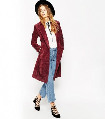 asos trench coat suede 269$