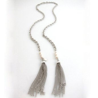 heavy chain tassel lariats and y-necks