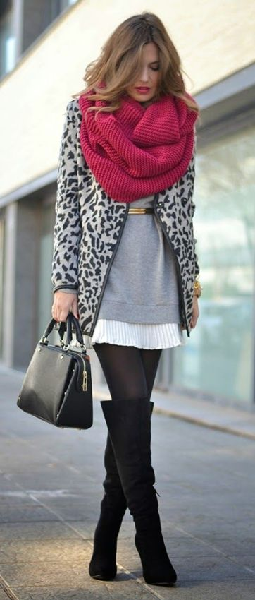 leopard coat black and white