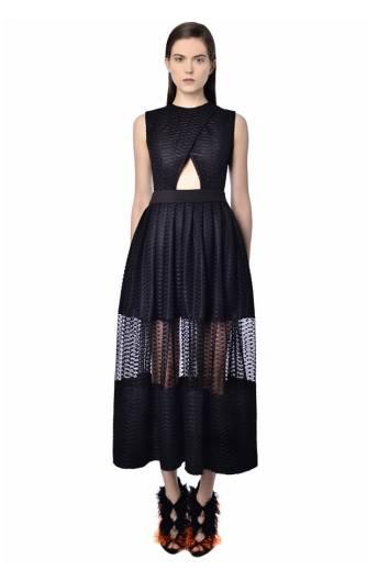 natar georgiou black dress