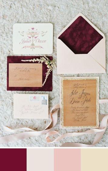 wedding color palettes