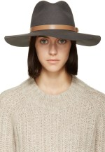 rag and bone grey wide brim wool fedora at ssence