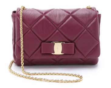 salvatore ferragam quilted miss vara bag
