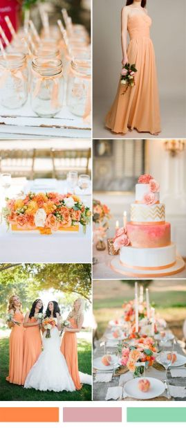 spring weddin g color orange