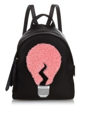 LAMP SHEARLING AND NYLON MINI BACKPACK FENDI