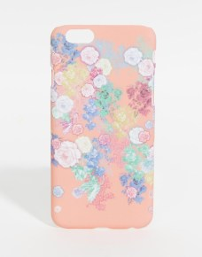 iphone case with pretty floral print