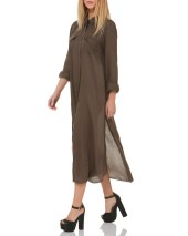 long shirt dress pinkwoman